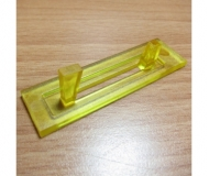 C plastic coin restrictor with teeth